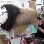 fabricating a lion body for a costume