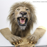 lion puppet head and wearable paws