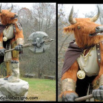 Minotaur statue lifesized foam sculpted creature character