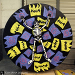 roulette foam Tim Burton party event prop with skeleton