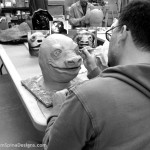 Snaggletooth mask sculptor alien movie creature from the star wars bar