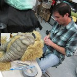 Latex mask making alien movie creature from the star wars bar