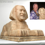 egypt, egyptian statue, scaled gag gift sculpted from photos