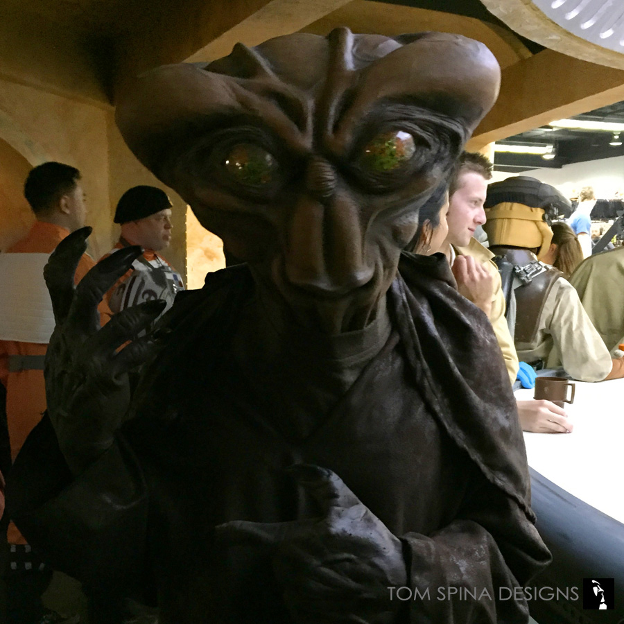 Alien Costumes for Star Wars Celebration with anvil T-head alien costume cosplay ... & Alien Costumes for Star Wars Celebration Cantina Video - Tom Spina ...