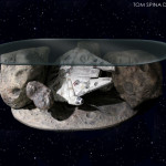 Millennium Falcon Coffee Table Star Wars Asteroid Chase