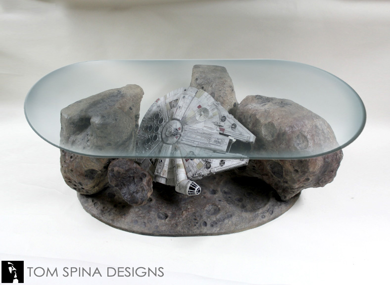 Millennium Falcon Coffee Table Star Wars Asteroid Chase Tom