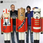 life sized nutcracker props custom holiday window display statues