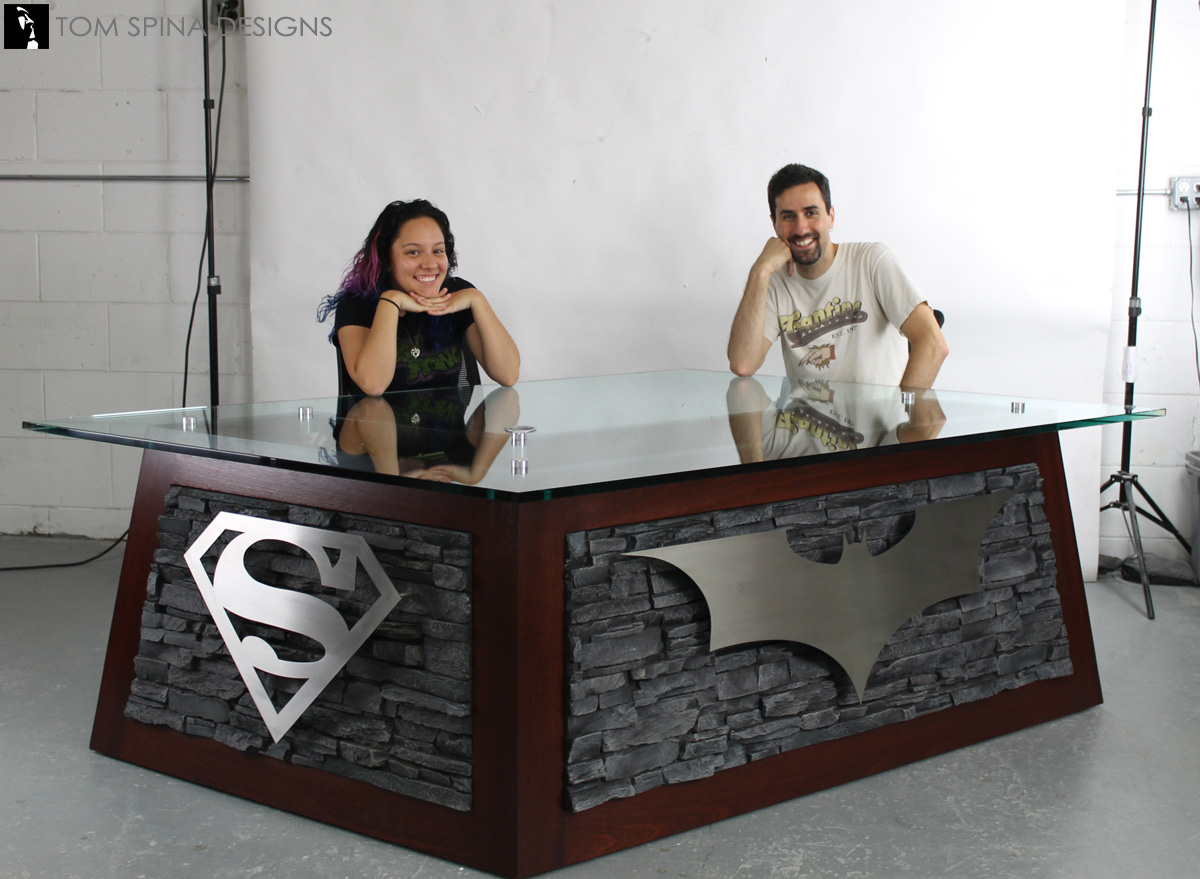 ... Custom Superhero Desk For Themed Office Reception Area ...