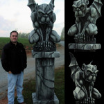 styrofoam sculpture carved foam gargoyle statue