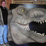 Foam Life Sized T Rex Bust for sale - museum exhibit prop