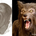 life sized werewolf statue head latex and resin