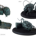 conservation of Tim Burton Delia potato statue prop