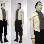 Star Trek Data Costume Wax Museum Style Display