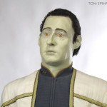 Star Trek Next Generation Data custom head sculpture