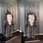 custom mannequin and custom acrylic display case for Donnie Darko Frank Costume