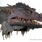 Dragonslayer Vermithrax movie prop head