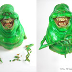 Ghostbusters Slimer movie prop maquette restoration, repair and conservation