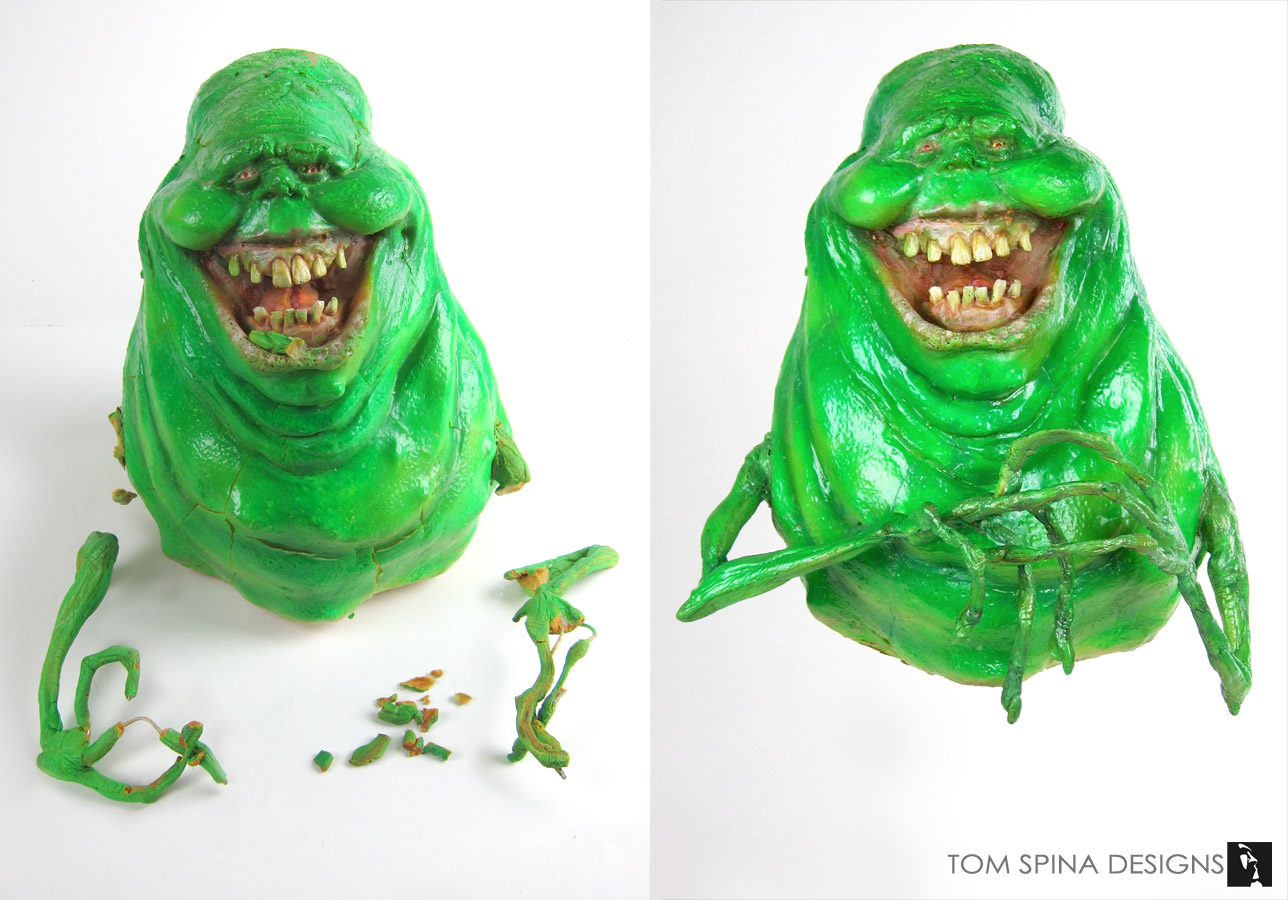 Ghostbusters Slimer Movie Prop Maquette Restoration Repair And Conservation