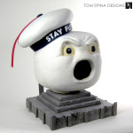 Stay Puft Marshmallow Man Costume Head Restoration & Display