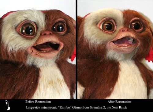 Gremlins Gizmo Rambo, Gremlins 2, the New Batch screen used prop repair