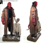 Hellboy Costume & Ivan Puppet Custom Display