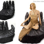 1976 King Kong costume Hand Chair Movie display