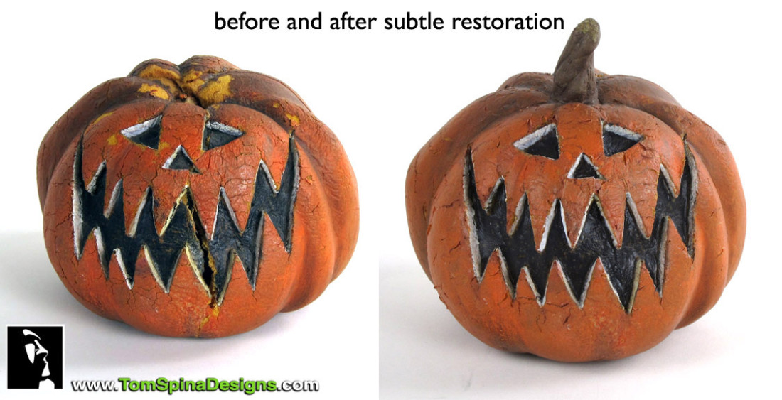 Tim Burton Nightmare Before Christmas Pumpkin Puppet Preservation/Restoration