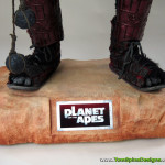 Tim Burton Planet of the Apes custom themed display base for custom movie mannequin