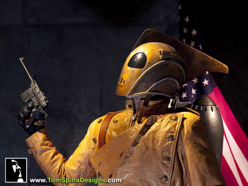 The Rocketeer lifesized custom mannequin display statue helmet
