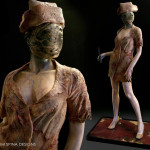Custom mannequin display for Silent Hill dark nurse costume