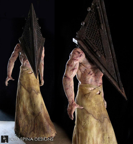 Custom mannequin for movie costume display Silent Hill Red Pyramid statue