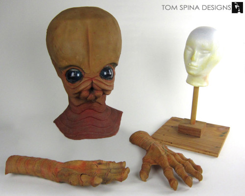 conservation of screen used star wars cantina band prop mask and hands
