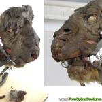original Luke Skywalker Tauntaun movie prop before restoration