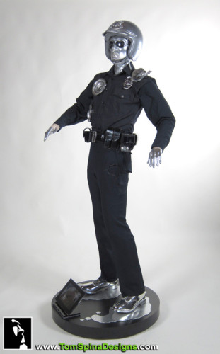 T2 T1000 movie costume from Terminator 2 Judgment Day