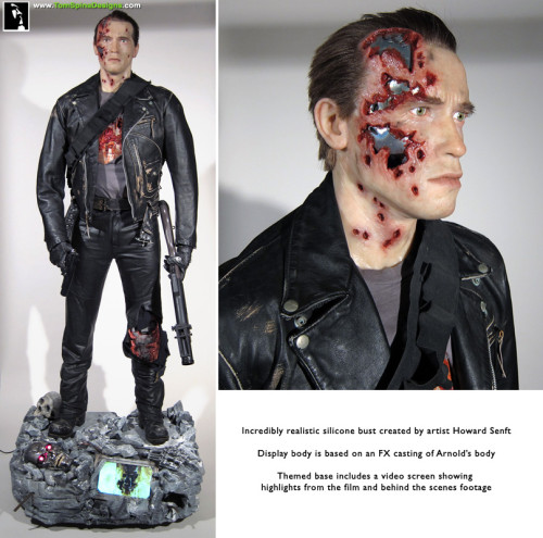 T2 Terminator Costume Mannequin Themed Display