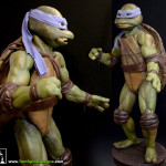 Teenage Mutant Ninja Turtles costume restoration and lifesized custom mannequin