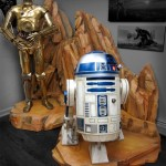 Custom Display for Life Sized Star Wars Statues of C-3PO & R2-D2