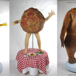 Tums commercial costumes chicken, taco and meatball
