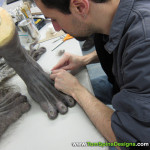 Wolfman movie props custom statue werewolf feet