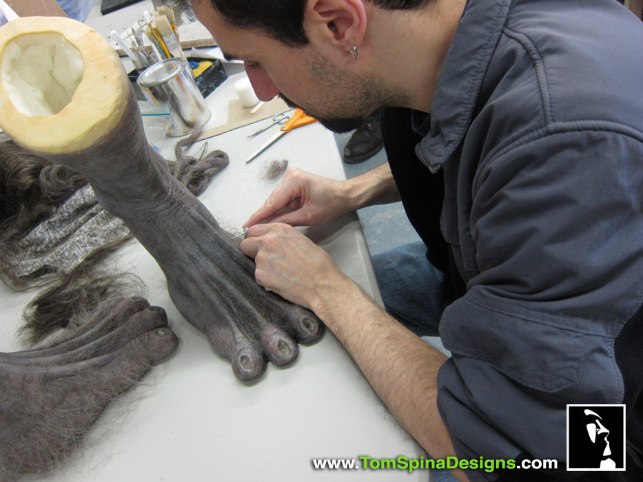 ... Wolfman movie props custom statue werewolf feet ... & The Wolfman 2010 Life Sized Costume Display - Tom Spina Designs ...
