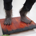 Wolfman movie props costume custom statue werewolf feet