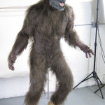 Wolfman movie props costume custom statue werewolf on custom mannequin