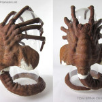 Aliens 1986 Facehugger movie prop restoration and display