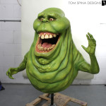 lifesized movie prop statue of Slimer Ghost