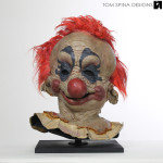 Killer Klowns movie prop mask restoration and display
