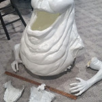 lifesized slimer movie prop statue