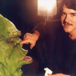 Steve Johnson with Slimer from Ghostbusters