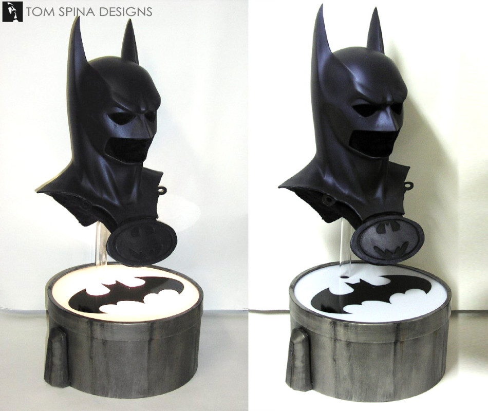 George Clooney Batman and Robin Movie Cowl display