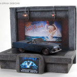 Dark City Miniature Car Prop Diorama