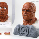 Fantastic Four Thing Mask Bust Display
